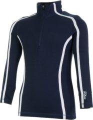Blauwe Falcon Jenita Skipulli Meisjes Wintersportpully - Maat 140 - Unisex - blauw/wit