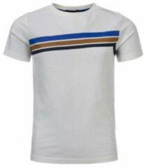 Witte COMMON HEROES T-shirt Tim van biologisch katoen off white/multicolor