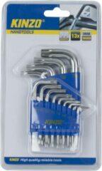 Zilveren Kinzo Voordelige Inbus/torx sleutelset - 13 delig - Inbus/torx hex key gereedschap set