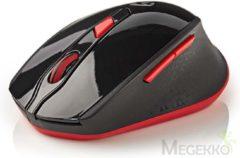 Nedis MSWS300RD Draadloze Muis 800/1200/1600 Dpi Met 6 Knoppen Zwart/rood