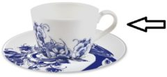 Blauwe ROYAL DELFT - Peacock Symphony - Koffiekop 0,18l