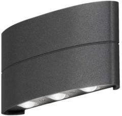 Antraciet-grijze Konstsmide 7853-370 wandverlichting Geschikt voor buitengebruik Antraciet, Grijs