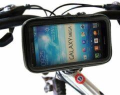 Zwarte Shop4 telefoonhouder fiets - Samsung Galaxy S9 Plus - Waterdicht