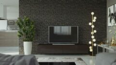 Maxima House VIGO I Zwevend TV Meubel - TV Meubel Wenge - TV Kast Meubel - Modern Design - 30x180x40 cm