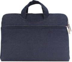 Mac-cover.nl Denim laptoptas 12 inch - Donker blauw