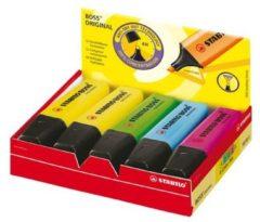 Markeerstift Stabilo Boss Original doos van 10 stuks in geassorteerde kleuren: 4 x geel, 2 x blauw, 2 ...