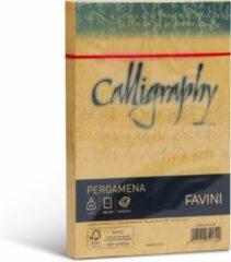 Perkament 25 enveloppen 120 x 180 J7 90 g/m2 inkjet kleur Goud geel PERGAMENA Calligraphy Oro 03 FAVINI wenskaarten