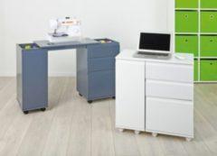 Links Link&acutes Laptop-Office / Nähmaschinentisch - weiss