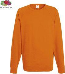 Oranje Fruit of the Loom sweater - ronde hals - maat L - heren - Kleur Orange