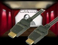 Cablemind High Speed HDMI mit Ethernet Winkelkabel mit knickbaren Steckern Länge: 3m