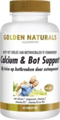 Golden Naturals Calcium & Bot Support (60 vegetarische tabletten)