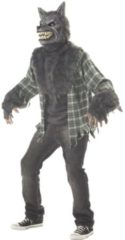 Zilveren CALIFORNIA COSTUMES - Deluxe weerwolf kostuum voor volwassenen - L - Volwassenen kostuums