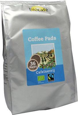 Afbeelding van BioCafé Biocafe Coffee Pads Caffeinevrij (36st)