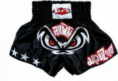 Zwarte Ali's Fightgear TTBA-15 - Kickboks broekje met witte sterren maat XL