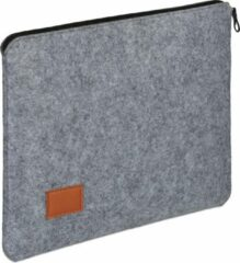 Donkergrijze Relaxdays laptophoes 13 inch - laptop sleeve - laptoptas - tablethoes - beschermhoes antraciet