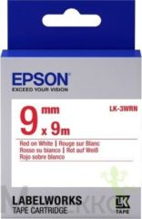 Epson C53S653008 Rood op wit labelprinter-tape
