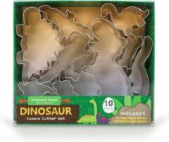 Roestvrijstalen Handstand Kitchen Uitsteekvormpjes koekjes - Dinosaurus (10 stuks)