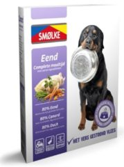 Smolke Vers Gestoomde Maaltijd 395 g - Hondenvoer - Eend&Groente&Bruine Rijst Hypoallergeen