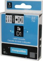 Rillstab D1 standaard labels wit-zwart 9mm