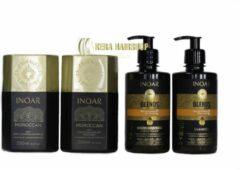 Inoar Keratine Inoar Moroccan Kit Met Blends Shampoo & Conditioner 250 ML