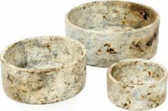 Zandkleurige Bazar Bizar De Burned Cilinder Kom - Antique - Set van 3