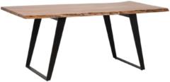 Bruine Beliani Jaipur Eettafel Acaciahout 100 X 200 Cm