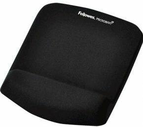 Afbeelding van Fellowes PlushTouch muismat met polssteun, zwart