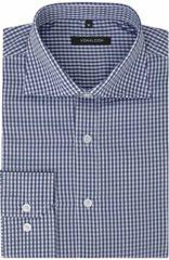 Marineblauwe VidaXL Zakelijk overhemd heren wit en marineblauw geblokt maat S