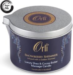 Orli Massagekaars Snowberry Shimmer - 100% Vegan, biologisch en proefdiervrij
