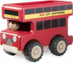 Rode Wonder-World Voertuig Wonderworld Citybus 14x9x11 cm
