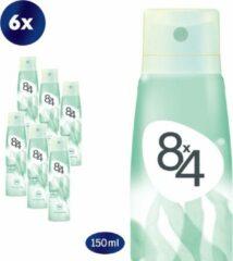 8x4 Pure Deodorant Spray - 6 x 150 ml - Voordeelverpakking