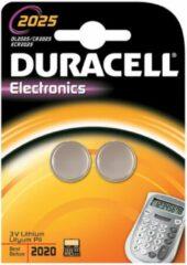 CR2025 Knoopcel Lithium 3 V 165 mAh Duracell Elektro 2025 2 stuk(s)