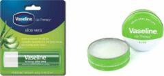 Vaseline Lip Therapy - Aloë Vera 20g & Vaseline Aloe Vera lippenstift Transparant Crème 4,8 g