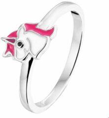 Paarse Huiscollectie Ring Eenhoorn Zilver Gerhodineerd maat 41