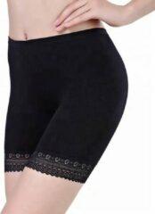 LOUZIR Dames Short Seamless -lange pijp -Basic korte broek -Zwart Maat S