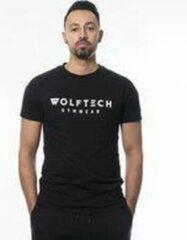 Wolftech Gymwear Sportshirt Heren - Zwart - M - Regular Fit - Sportkleding Heren