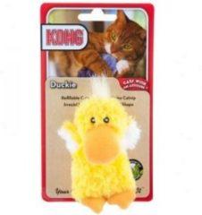 Kong Speeltje Pluche Eend - Kattenspeelgoed - Geel per stuk