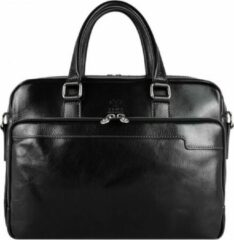Alaabouch X Time Resistance Zwart Leren Briefcase, Laptop Tas - ORLANDO