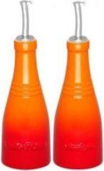 Rode Le Creuset Olie- en azijnfles 0,24 liter set van 2