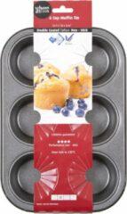 Grijze Wham Cook Essentials Muffinvorm - Non Stick - Voor 6 Stuks