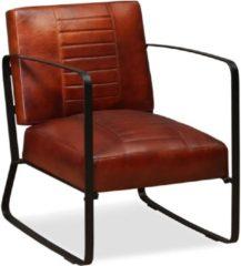 VidaXL Loungestoel echt leer bruin