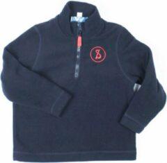 Donkerblauwe Poccino Sweater met korte rits Sint Ludgardis Unisex Sweater Maat 140