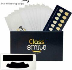 Gouden Class Smile Whitening Strips 14 behandelingen - Theeth Whitening Strips 100% Natuurlijk - Tandenbleker Strips inclusief handleiding en tanden kleuren gids.