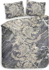 Grijze Heckettlane Heckett & Lane Victor - Dekbedovertrek - Eenpersoons - 140x200/220 cm + 1 kussensloop 60x70 cm - Marble Grey