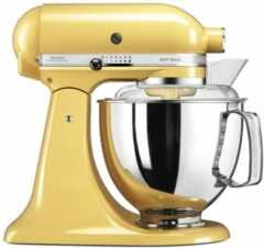 Gele KitchenAid Keukenmachine Artisan 5KSM150PSEMY, pastelgeel, incl. extra accessoires ter waarde van ca. € 214,