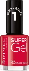 Rode Rimmel London SuperGel nagellak - 045 Flamenco Beach