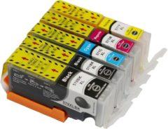 KATRIZ® huismerk inkt voor Canon 1X PGI570XLBK + 1X CLI571XLBK + 1X CLI571XL Cyaan + 1X CLI571XL Magenta + 1X CLI571XL Geel (5stuks) - Met chip