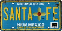 Turquoise Signs-USA - Souvenir kentekenplaat nummerbord Amerika - verweerd - 30,5 x 15,3 cm - Santa Fe - New Mexico