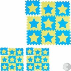 Blauwe Relaxdays 27 x puzzelmat ster - speelmat - speelkleed - vloerpuzzel - speeltapijt – kinder
