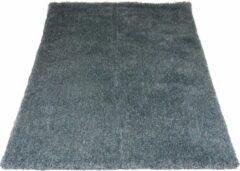 Blauwe Veercarpets Karpet Lago Blue 31 - 200 x 200 cm - Hoogpolig vloerkleed
